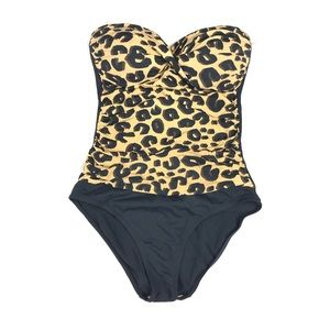 ana Strapless animal print one piece swimsuit 6
